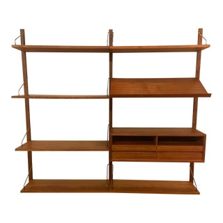 Poul Cadovius Teak 2 Bay Royal Wall System For Sale
