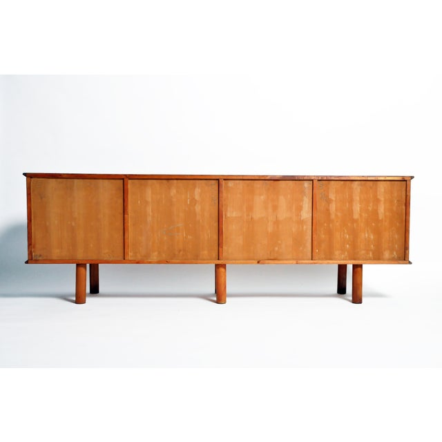 Mid-Century Modern French Mid-Century Modern Walnut Veneer Sideboard For Sale - Image 3 of 13