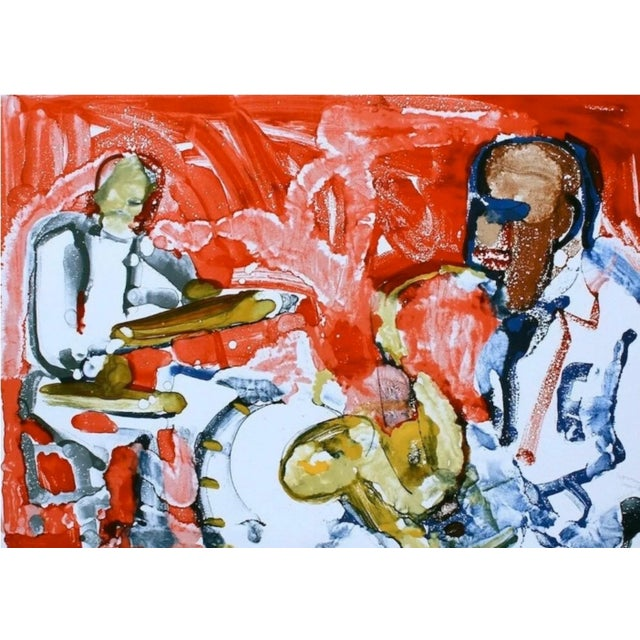 Expressionism Romare Bearden Out Chorus (Rhythum Section) 1979 For Sale - Image 3 of 3