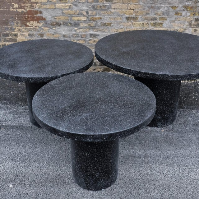 Gray Cast Resin 'Spring' Dining Table, Coal Stone by Zachary A. Design For Sale - Image 8 of 10