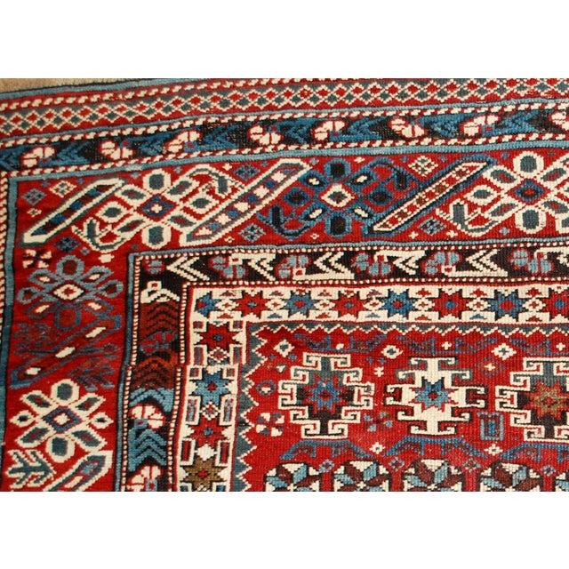1880s Antique Caucasian Chichi Rug - 4′2″ × 5′6″ - Image 6 of 10