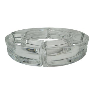 Baccarat Crystal Round 4-Piece Dish For Sale