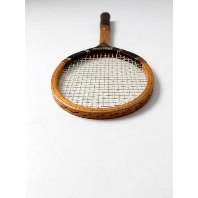 Vintage Spalding Tennis Racquet For Sale - Image 6 of 6