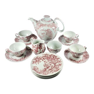 "Vintage Bjorn Wiinblad ""Midsummer Night's Dream"" Tea/Coffee Set for Nymolle - 16 Pieces For Sale"