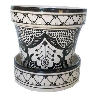 Modern Black Safi Ceramic Planter For Sale