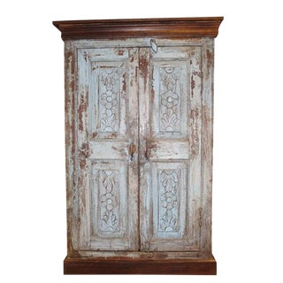 1920s Art Nouveau Distressed Cabinet For Sale