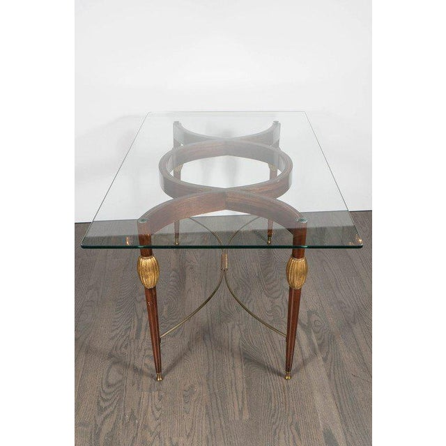 Metal Mid-Century Modern Italian Cocktail Table in the Style of Gio Ponti, circa 1945 For Sale - Image 7 of 11
