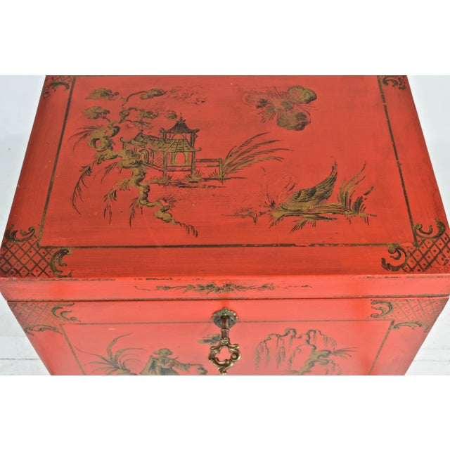 Chinoiserie Box on Stand For Sale - Image 10 of 13