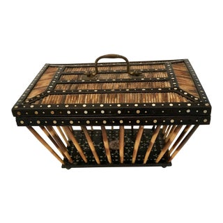 Late 19th Century Antique Porcupine Quill Letter Basket For Sale