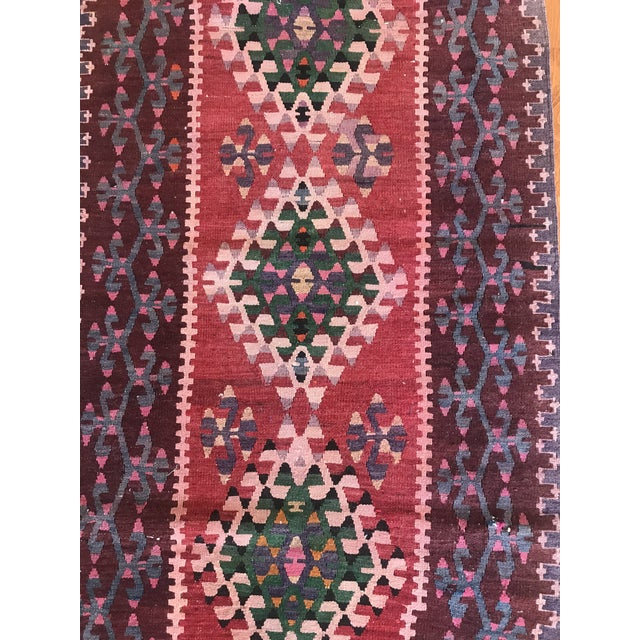 Textile 1960s Vintage Kilim Handmade Rug-2′8″ × 4′10″ For Sale - Image 7 of 11