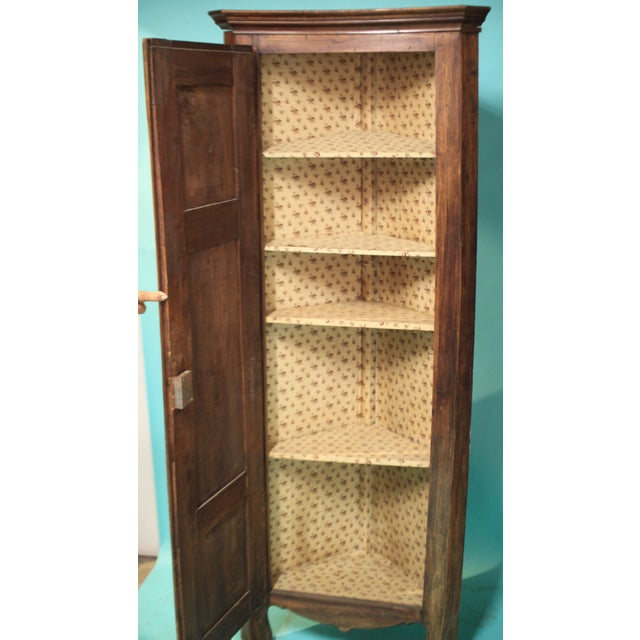 French Early 20th Century Antique French Corner Cabinet For Sale - Image 3 of 9
