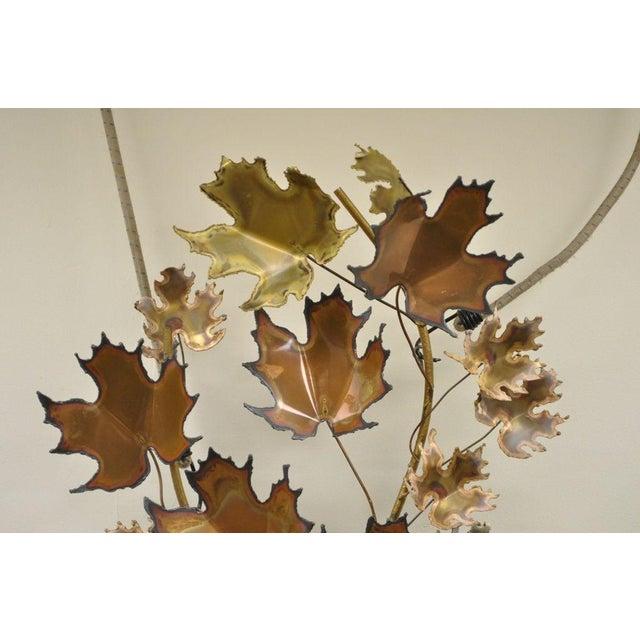 Brutalist Vintage Mid Century Modern Curtis Jere Maple Leaf Wall Sculpture Brutalist A For Sale - Image 3 of 11