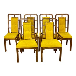 Vintage Century Chinoiserie Chin Hua Style Dining Chairs - Set of 6 For Sale