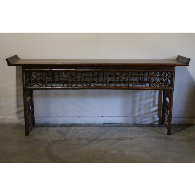 Wood Late 19th Century Bamboo Altar Table For Sale - Image 7 of 7