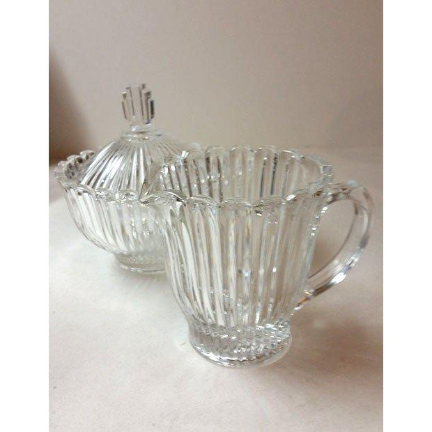 Cut Glass Creamer and Sugar - A Pair - Image 4 of 5