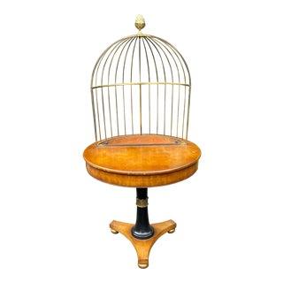 Rare Grosfeld House Hollywood Regency Mid Century Modern Empire Birdcage Jardenier Table For Sale
