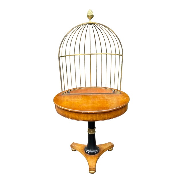 Rare Grosfeld House Hollywood Regency Mid Century Modern Empire Birdcage Jardenier Table For Sale