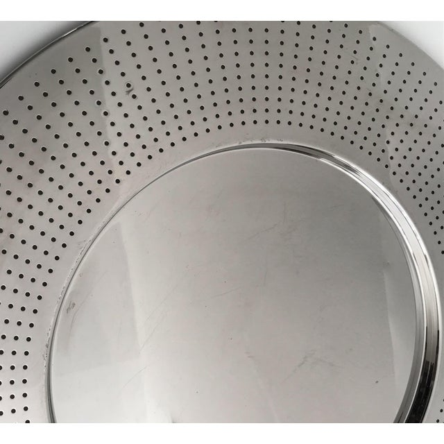 Alessi Alessi Round Polished Stainless Steel Tray For Sale - Image 4 of 12