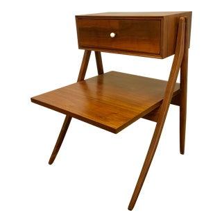 Drexel Declaration Walnut End Table Nightstand by Kipp Stewart Mid Century For Sale