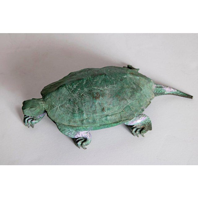 Bronze Late 19th Century Japanese Bronze Tortoise, Meiji Period For Sale - Image 7 of 13