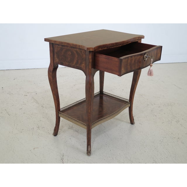 Theodore Alexander French Louis XV Mahogany Nightstand For Sale - Image 10 of 13