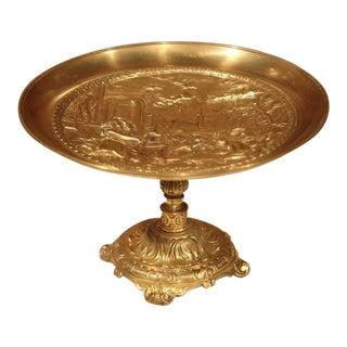 Classical Roman Scene Bronze Decorative Dish