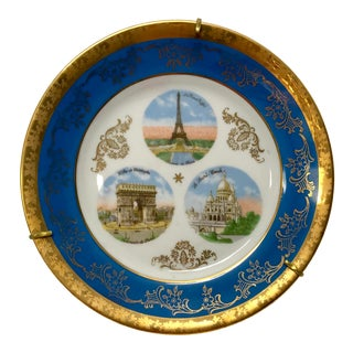 1970s Vintage Parisian Monuments Display Plate For Sale