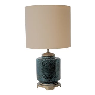French Blue Ceramic Lamp