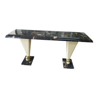 1970's Tessellated Bone and Horn Console Table For Sale