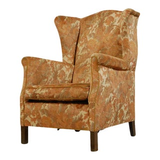 English Wingback Armchair For Sale