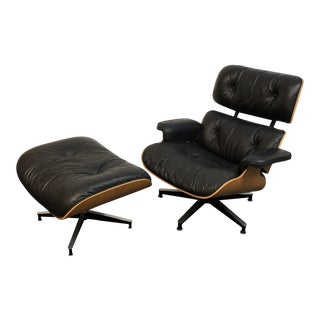 Eames Lounger + Ottoman, by Herman Miller For Sale