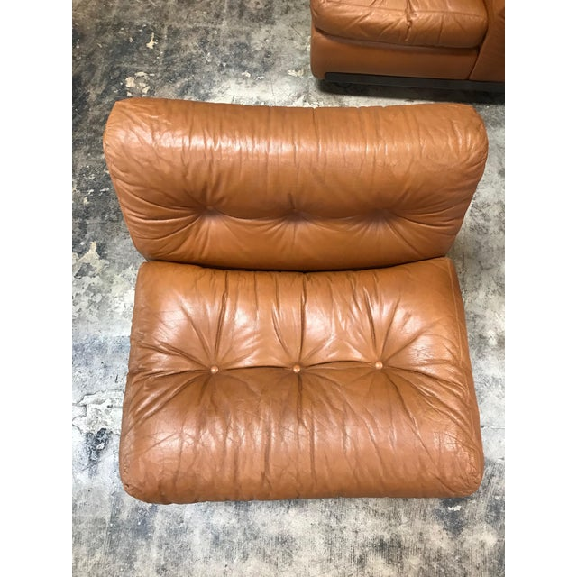 """1960s """"Amanta"""" Sectional Chairs by Mario Bellini for B&b Italia - Set of 4 For Sale - Image 10 of 13"""