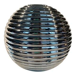 Nickel Plated Spherical Ceramic Sculpture For Sale