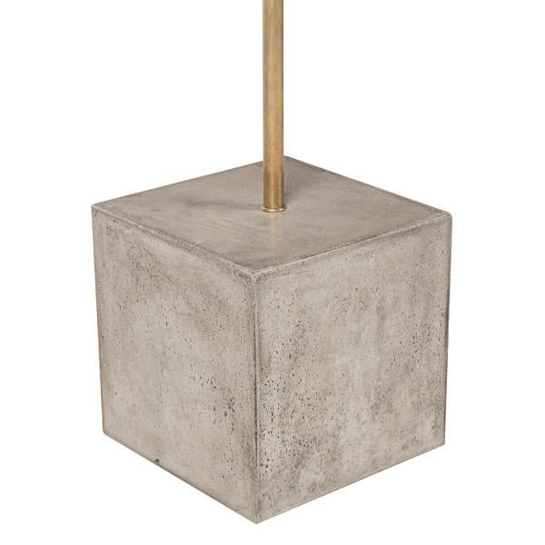 Modern Nellcote Square Floor Lamp With White Shade For Sale - Image 3 of 5