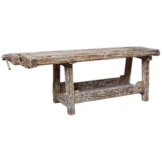 19th Century French Etabli Carpenter's Work Bench For Sale