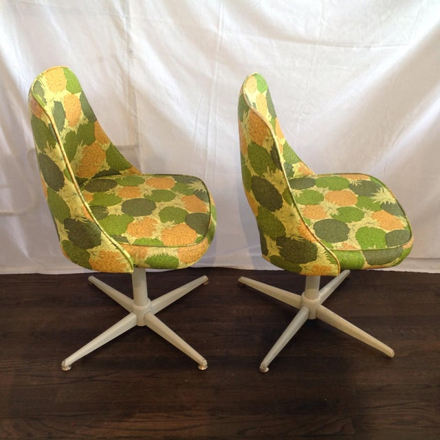 Mid-Century Modern Swivel Chairs- A Pair - Image 3 of 5
