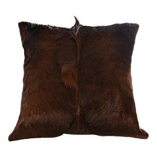 Springbok Pillow in Espresso 17x17 For Sale