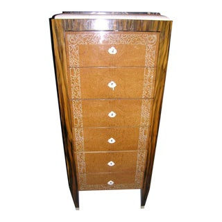 "French Art Deco Chiffonier Marked ""Noel"" For Sale"