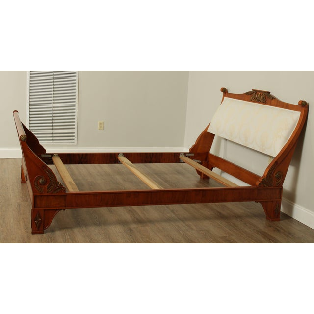 John Widdicomb John Widdicomb Neo-Classical French Empire Style Walnut Queen Sleigh Bed For Sale - Image 4 of 13