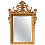 Image of Mid 20th Century Italian Carved and Gilt Mirror For Sale
