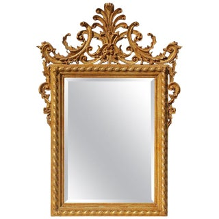 Mid 20th Century Italian Carved and Gilt Mirror For Sale