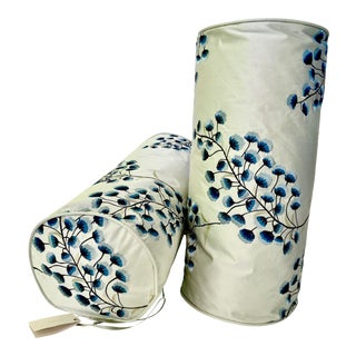Bolster Decorative Scatter Cushions in Designers Guild Fabric Pillow Covers - a Pair For Sale