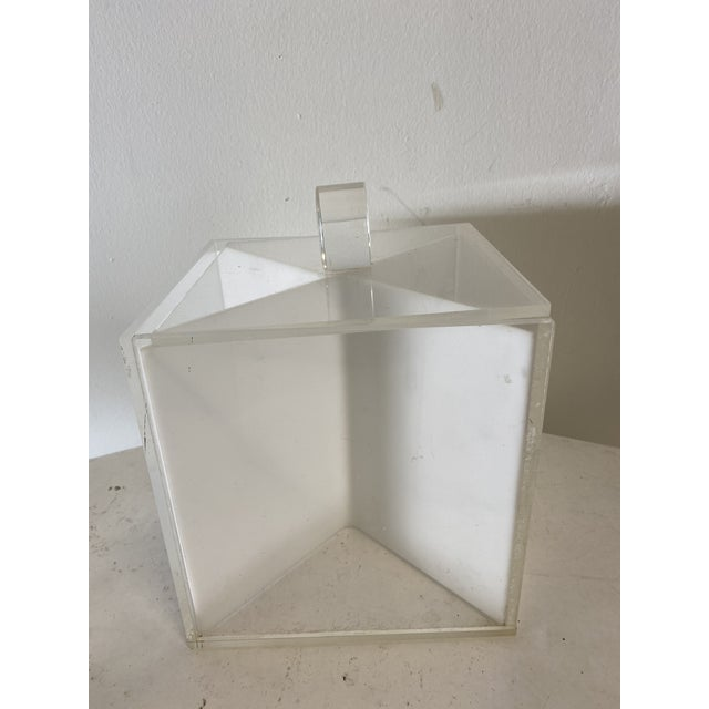 Mid-Century Lucite Ice Bucket For Sale - Image 4 of 4