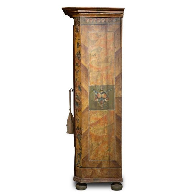 Early 19th Century Scandinavian 19th Century Hand Painted Kas/Wardrobe Dated 1826 For Sale - Image 5 of 9
