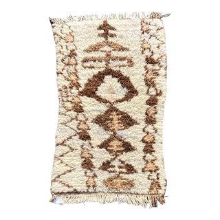 1970s Vintage Beni Ourain Handmade Berber Rug For Sale