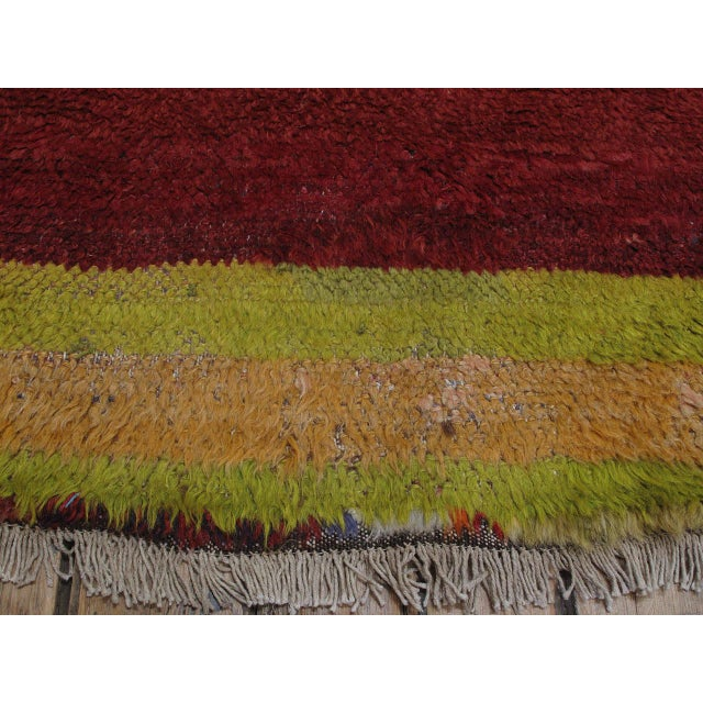 """Red """"Contemplation,"""" Tulu Rug For Sale - Image 8 of 9"""