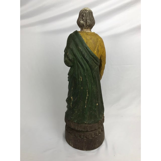 Mid 20th Century Rustic Primitive Philippine Santos Figure of a Saint For Sale - Image 5 of 7