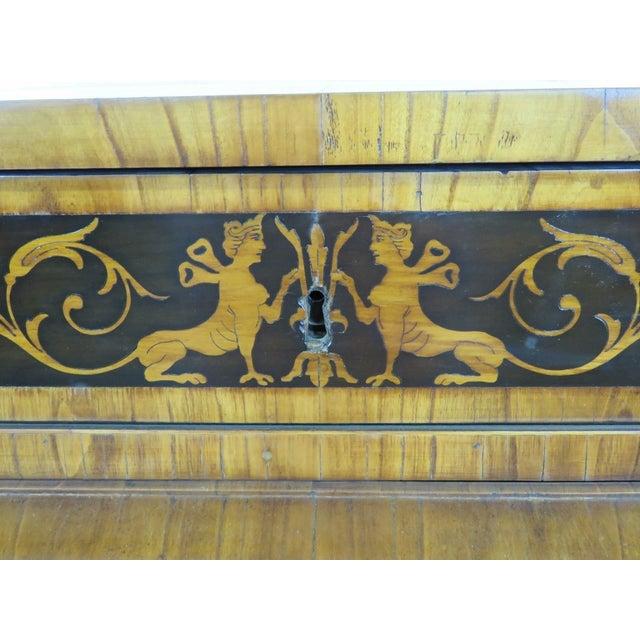 19th C. Biedermeier Cylinder Desk - Image 3 of 10