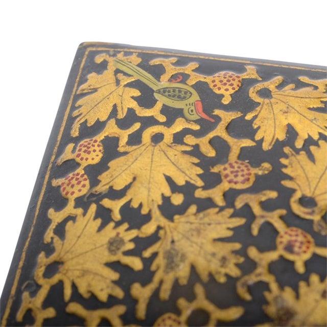 Golden Maple Leaf Kashmiri Box - Image 3 of 5
