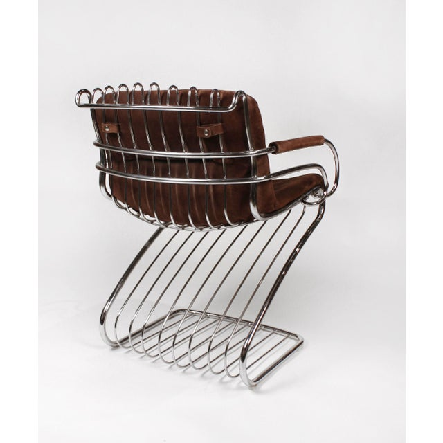Gastone Rinaldi Italian Modernist Solid Steel Dining Chairs for Rima - Set of 6 For Sale In Dallas - Image 6 of 10
